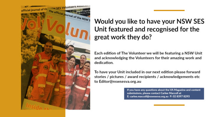 Have Your Unit Featured in Our Magazine - The Volunteer
