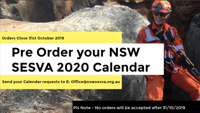 Pre order for your 2020 NSW SESVA Calendar