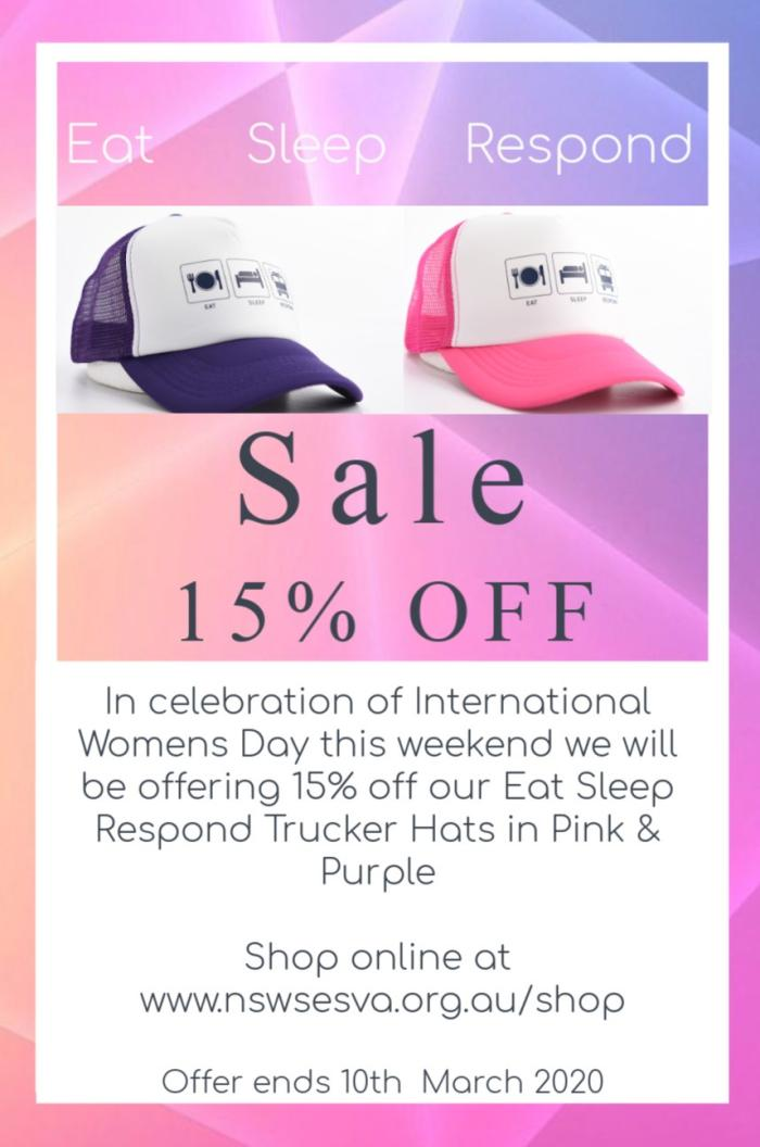 Sale - 15% off our Pink & Purple ESR Trucker Caps
