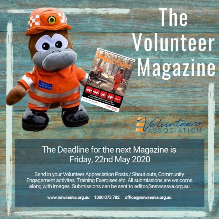 Submissions for the Next Magazine are due in by the 22nd May 2020