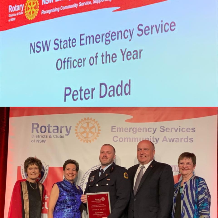 Congratulations Peter Dadd - 2019 NSW State Emergency Service Officer of the Year